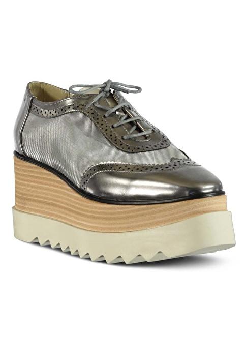 Marjin Dolgu Topuk Ayakkabı Altın